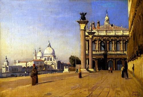 landschaften-gemaelde - La mañana en Venecia - Corot, J. B. Camille
