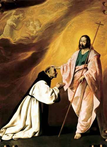 religioese-gemaelde - Aparición de Cristo al Padre Salmerón - Zurbaran, Francisco de