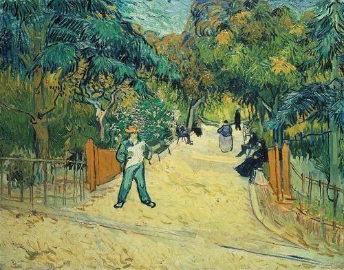 landschaften-gemaelde - Entrée du jardin public d'Arles - Van Gogh, Vincent