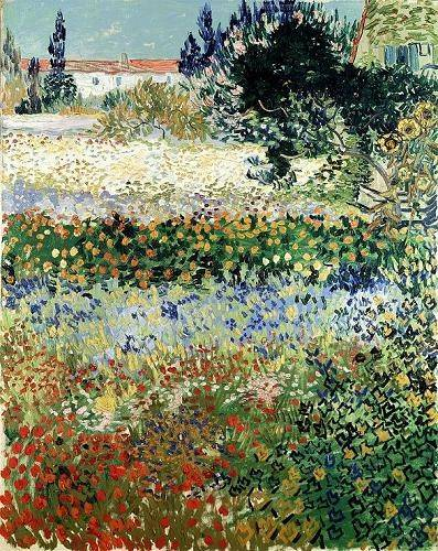 landschaften-gemaelde - Garten in der Blüte, Arles, Juli 1888 - Van Gogh, Vincent