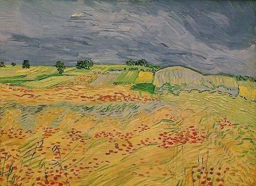 landschaften-gemaelde - La plaine d' Auvers, 1890 - Van Gogh, Vincent