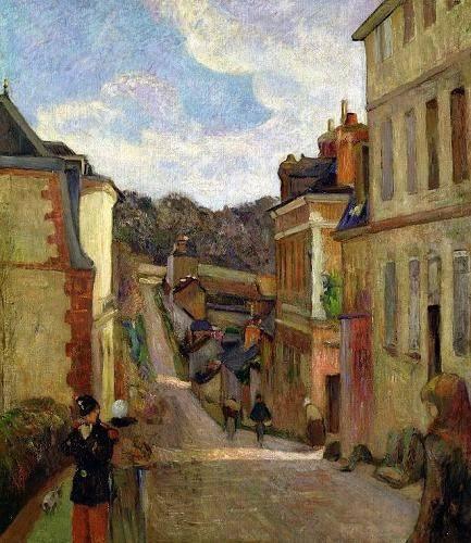 landschaften-gemaelde - A Suburban Street, 1884 - Gauguin, Paul