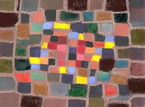 abstrakte-gemaelde - Abstrakt. Labyrinth und Unebenheiten (I) - Molsan, E.