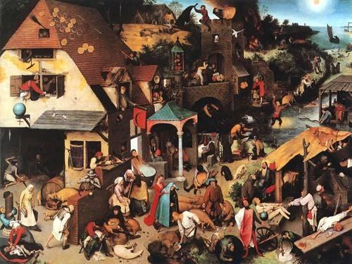 portraetgemaelde - The Netherlandish Proverbs - Bruegel