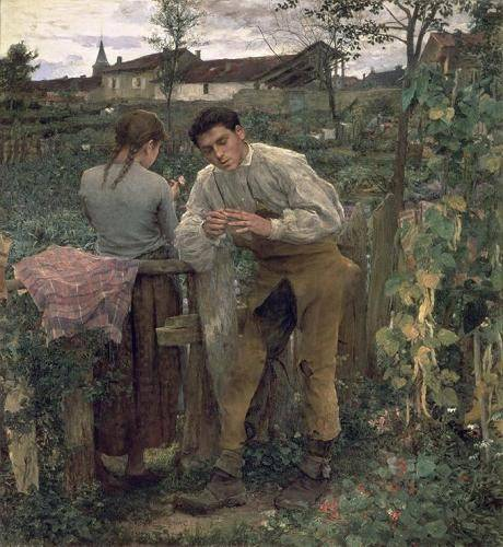 portraetgemaelde - Rural Love, 1882 (oil on canvas). - Bastien Lepage, Jules