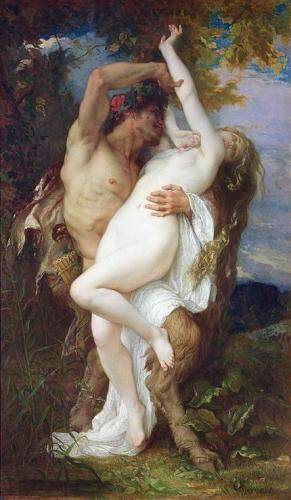 portraetgemaelde - Nymph Abducted by a Faun, 1860 - Cabanel, Alexander