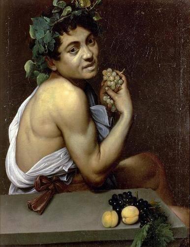 portraetgemaelde - Le Jeune Bacchus malade, 1591- Caravage - Caravaggio, Michelangelo M.