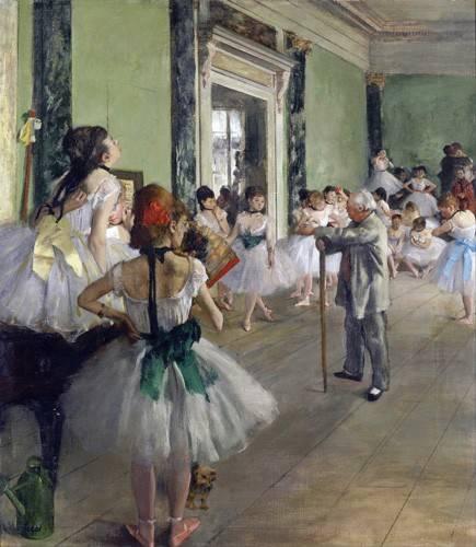 portraetgemaelde - La classe de danse, c.1873-76 (oil on canvas). - Degas, Edgar