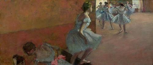portraetgemaelde - Danseurs montant un escalier, c.1886-88 - Degas, Edgar