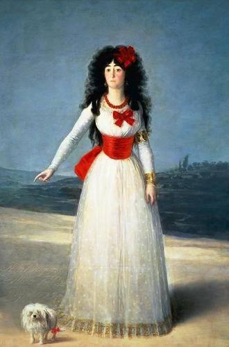 portraetgemaelde - La Duquesa de Alba, 1795 - Goya y Lucientes, Francisco de