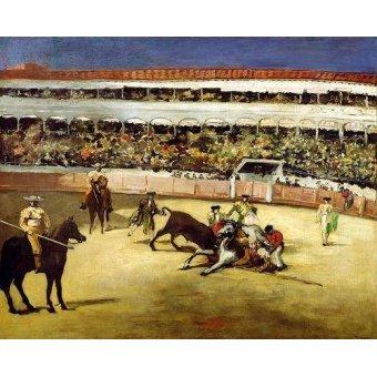 Tiermalereien - Combat de taureaux, 1865 - Manet, Eduard