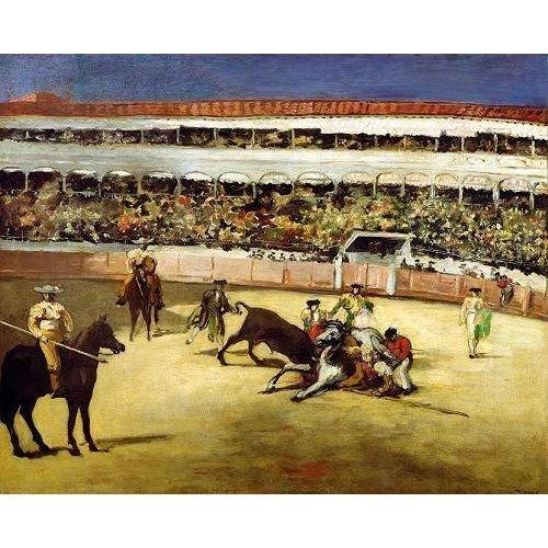 fotos de fauna - Quadro -Bull Fight, 1865 (Corrida de toros).-