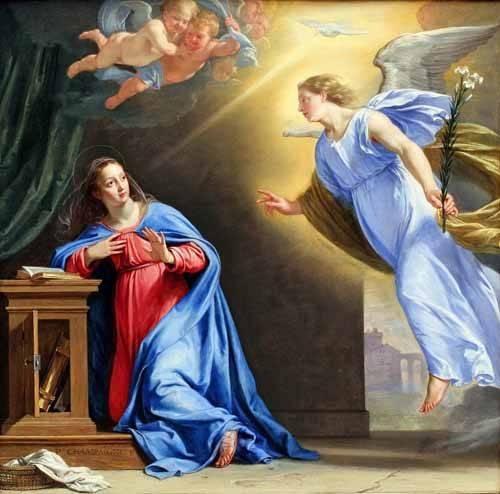 religioese-gemaelde - L'annonciation - Champaigne, Philippe de