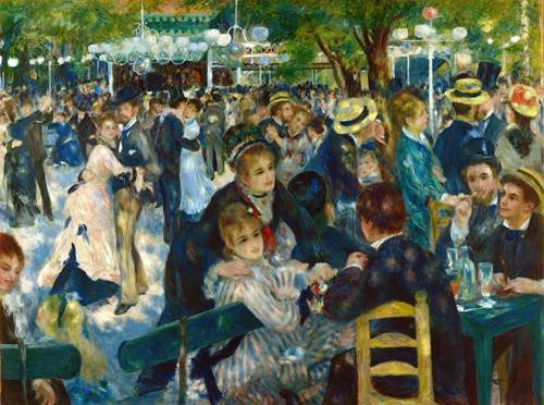 portraetgemaelde - Le Bal du moulin de la Galette, 1876 - Renoir, Pierre Auguste