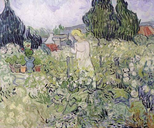 portraetgemaelde - Mademoiselle Gachet dans son jardin à Auvers - Van Gogh, Vincent