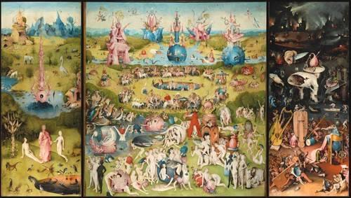 landschaften-gemaelde - Der Garten der Lüste (Triptychon) - Bosco, El (Hieronymus Bosch)