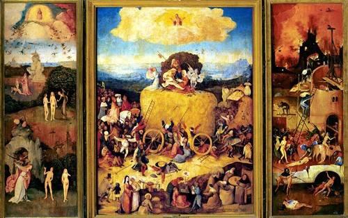 landschaften-gemaelde - El Carro De Heno (Tríptico completo)-. - Bosco, El (Hieronymus Bosch)