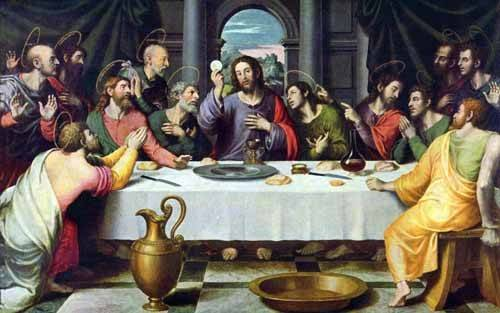 religioese-gemaelde - La Ultima Cena - Juanes, Juan de