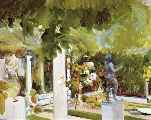 landschaften-gemaelde - Jardin de la maison de l'artiste (II) - Sorolla, Joaquin