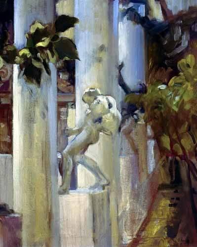 landschaften-gemaelde - Jardin de la maison de l'artiste (III) - Sorolla, Joaquin
