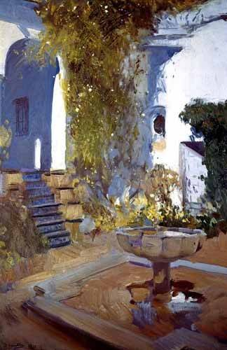 landschaften-gemaelde - Jardin de la maison de l'artiste (V) - Sorolla, Joaquin