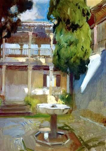 landschaften-gemaelde - L'Alhambra à Grenade (II) - Sorolla, Joaquin