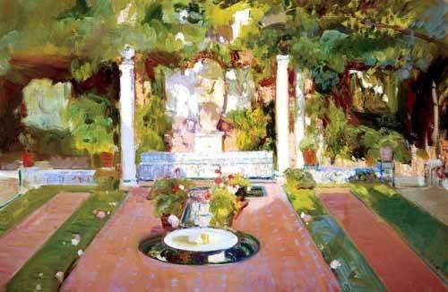 landschaften-gemaelde - Jardin de la maison de l'artiste (VIII) - Sorolla, Joaquin