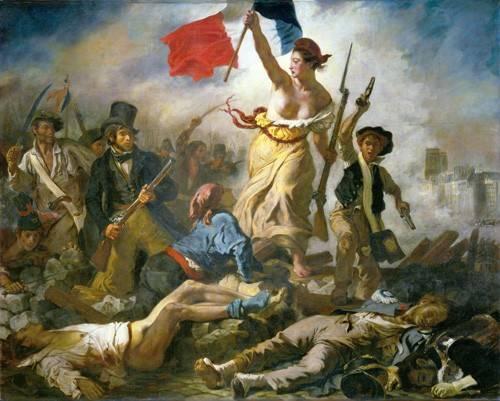 portraetgemaelde - Le 28 Juillet: La Liberté guidant le peuple - Delacroix, Eugene