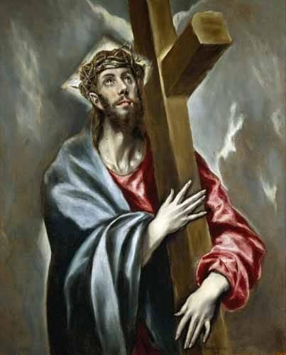 religioese-gemaelde - Cristo portando la Cruz - Greco, El (D. Theotocopoulos)