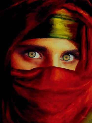 orientalische-gemaelde - femme arabe -Moderne CM0940 - Medeiros, Celito