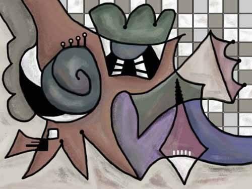 abstrakte-gemaelde - Moderno CM1810 - Medeiros, Celito
