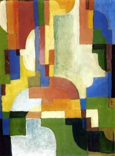 abstrakte-gemaelde - Colored forms-1 - Macke, August