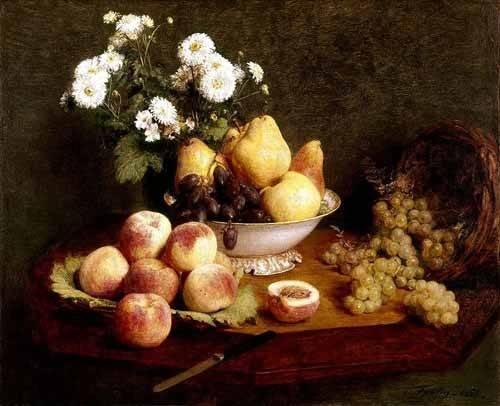 stillleben-gemaelde - Flores y frutas - Fantin Latour, Henri
