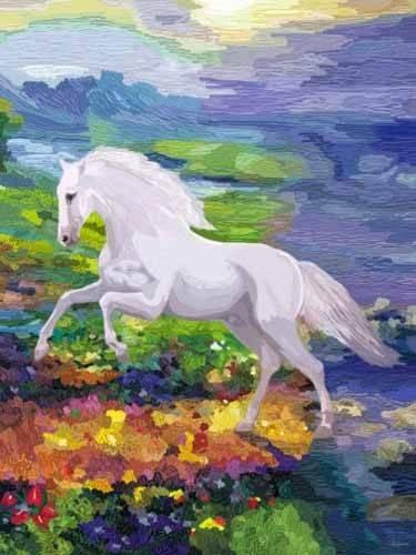 moderne-gemaelde - Moderno CM2458- (caballos) - Medeiros, Celito