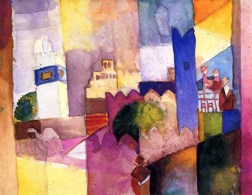 abstrakte-gemaelde - Paint-023 - Macke, August