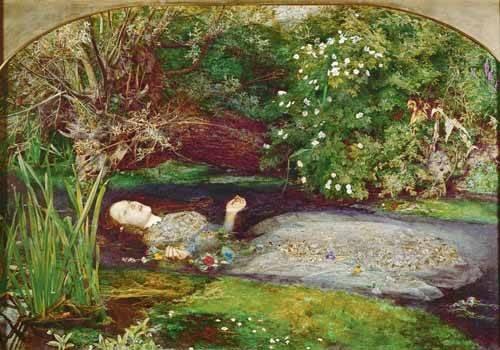 portraetgemaelde - Ofelia - Millais, John Everett