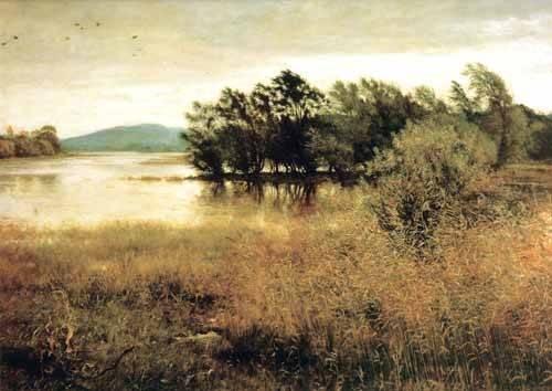 landschaften-gemaelde - Chill October - Millais, John Everett