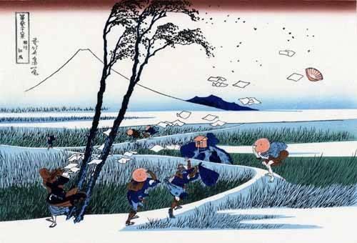 orientalische-gemaelde - Ejiri in the Suruga province - Hokusai, Katsushika