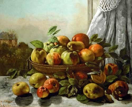 stillleben-gemaelde - Bodegon con frutas - Courbet, Gustave