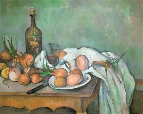 stillleben-gemaelde - Nature morte aux oignons - Cezanne, Paul