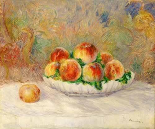 stillleben-gemaelde - Nature morte aux pêches - Renoir, Pierre Auguste