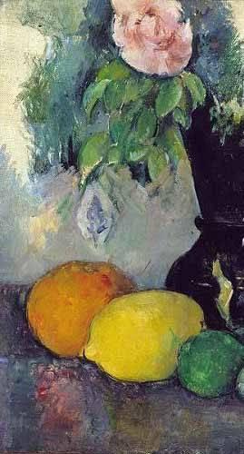 stillleben-gemaelde - Fleurs et fruits (1886) - Cezanne, Paul