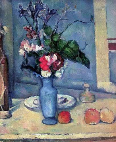 stillleben-gemaelde - Le vase bleu, (1889-90) - Cezanne, Paul