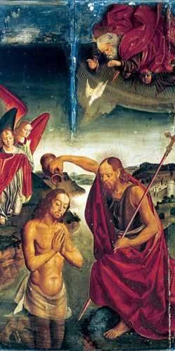religioese-gemaelde - Bautismo De Cristo - Berruguete, Pedro