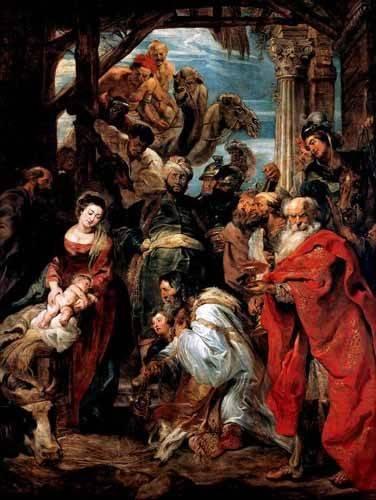 religioese-gemaelde - Adoración De Los Reyes Magos - Rubens, Peter Paulus
