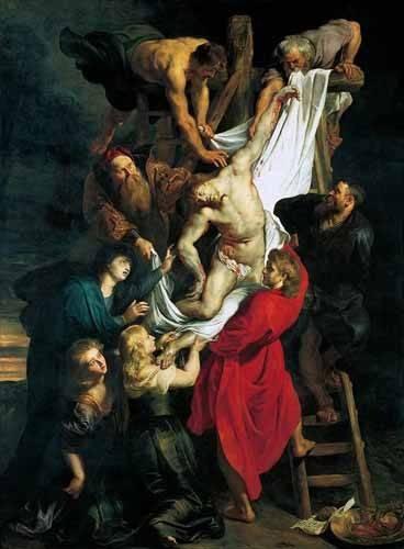 religioese-gemaelde - Triptco. Descendimiento de La Cruz (Panel Central) - Rubens, Peter Paulus