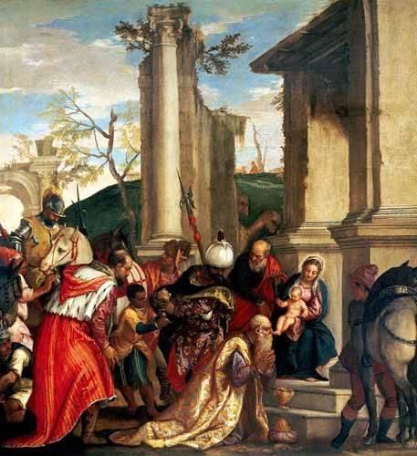religioese-gemaelde - Adoración De Los Reyes Magos - Veronese, Paolo