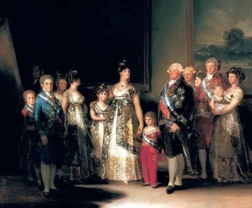 portraetgemaelde - Retrato de la Familia de Carlos IV de España - Goya y Lucientes, Francisco de
