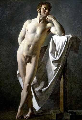 portraetgemaelde - Estudio anatómico de un hombre - Ingres, Jean-Auguste-Dominique