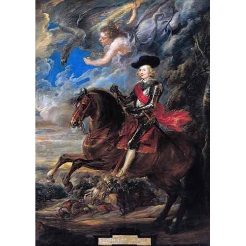 Don Fernando de Austria en la batalla de Nordlingen